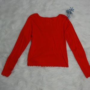 City Streets Tops - City Streets Size L Long Sleeve Top Blouse